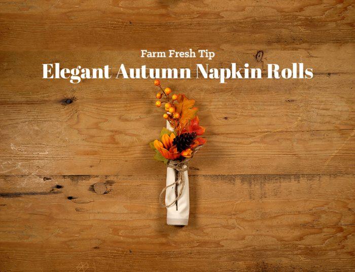 Autumn Napkin Roll