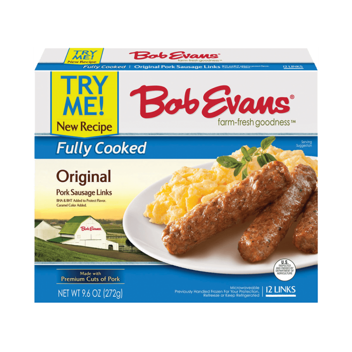 Bob Evans Fully Cooked Original Pork Sausage Links