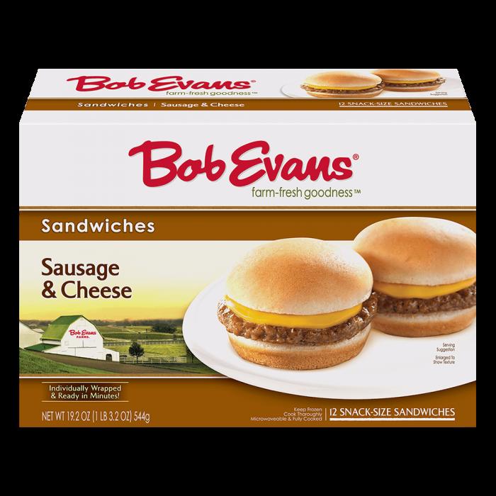 Bob Evans Snack Size Sausage Cheese Sandwich 12 ct