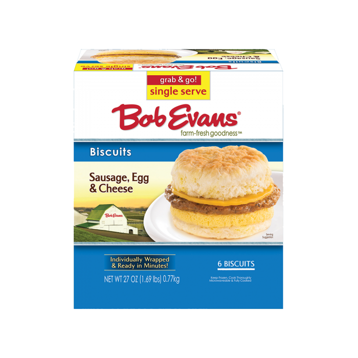 Bob Evans Sausage, Egg, & Cheese Biscuit Singles