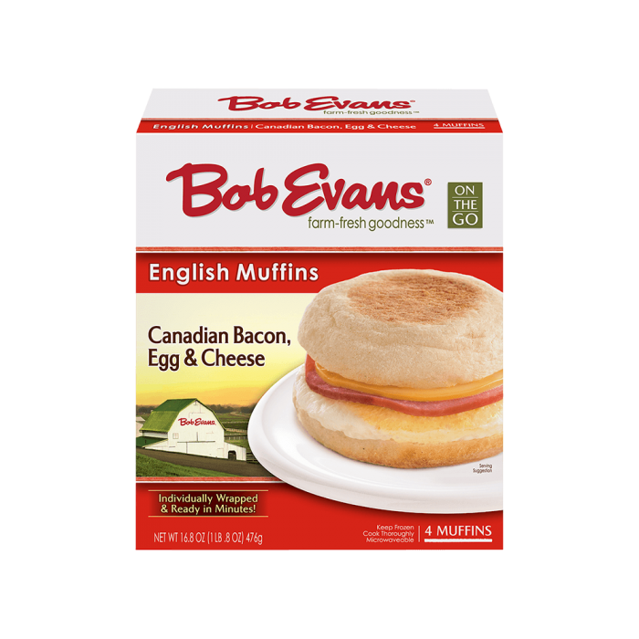 Bob Evans Canadian Bacon Egg Cheese English Muffin 4 ct