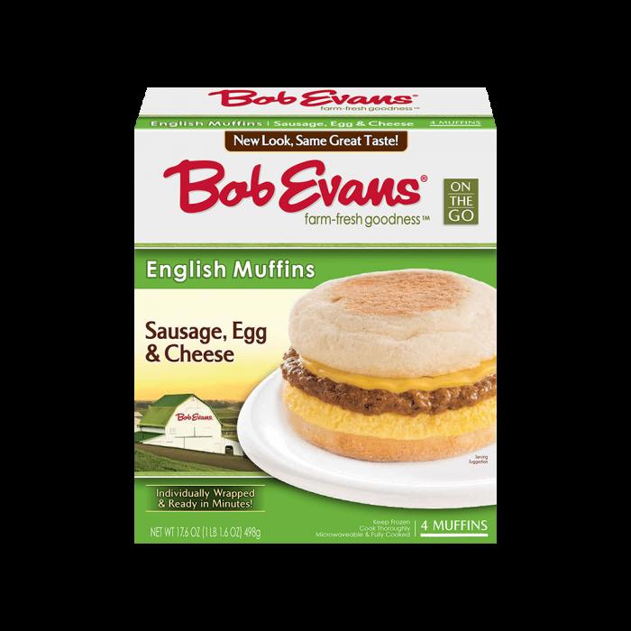 Bob Evans Sausage Egg Cheese Muffin 4 ct