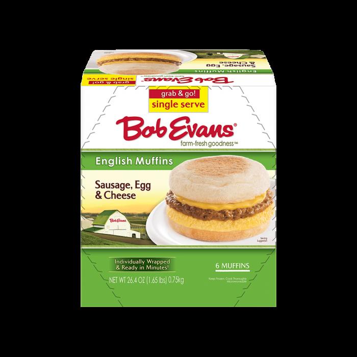 Bob Evans Single Serve Sausage, Egg & Cheese English Muffin Sandwich