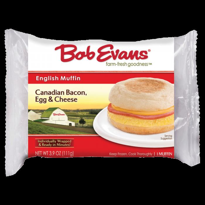 Bob Evans Frozen Canadian Bacon Egg Cheese English Muffin 3.9 oz