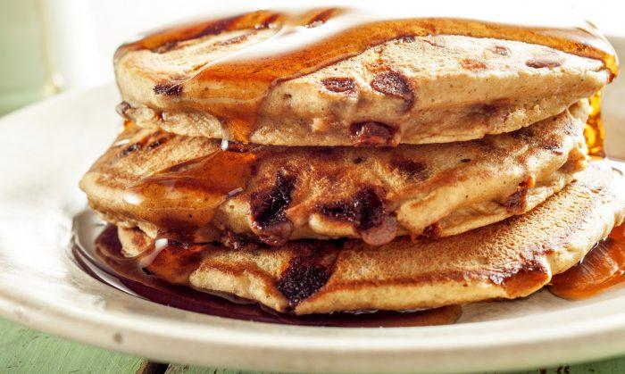 Cinnamon Chip Sweet Potato Pancakes