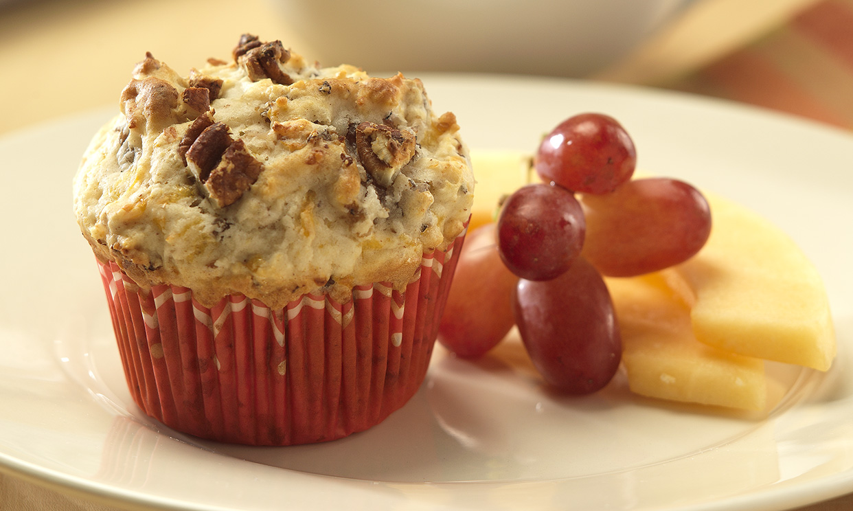 Maple Pecan Sausage Muffins