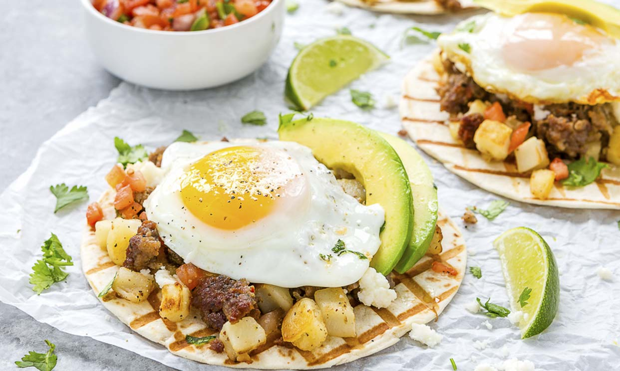 Sausage & Potatoes Breakfast Tacos