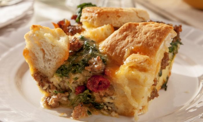 Sausage and Biscuits Strata