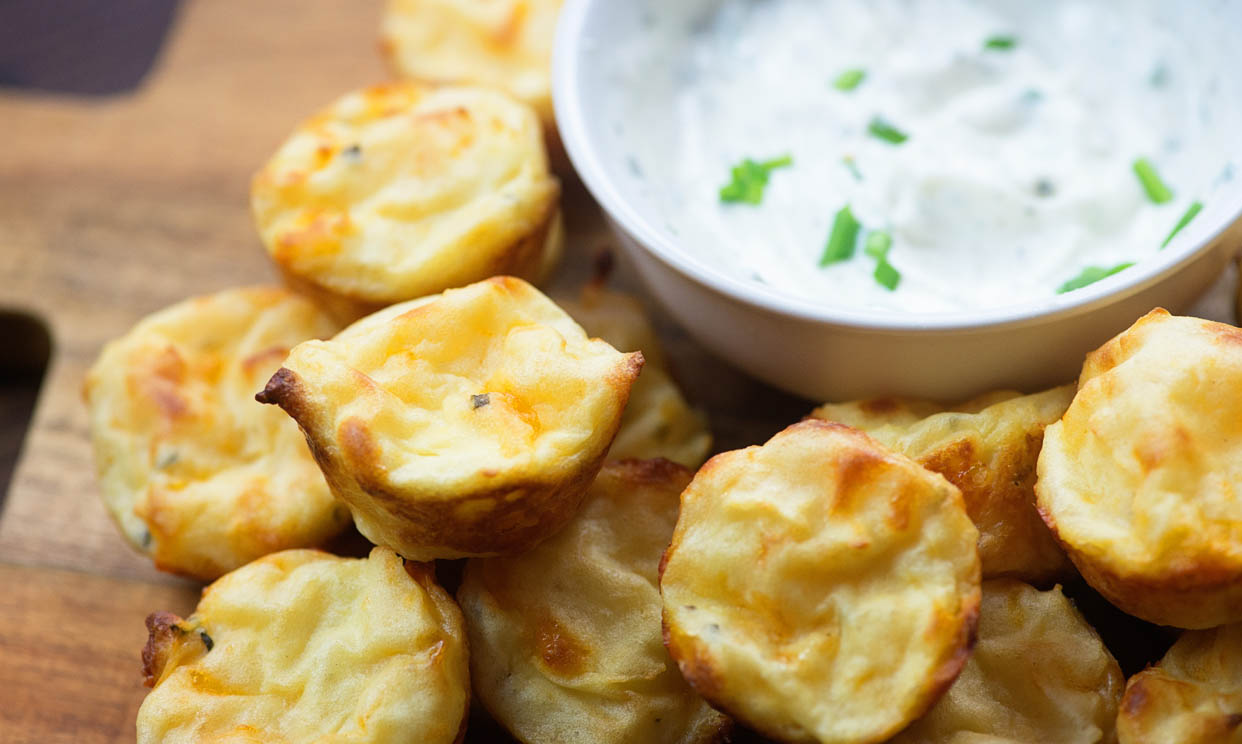 Sour Cream and Chive Mashed Potato Puffs