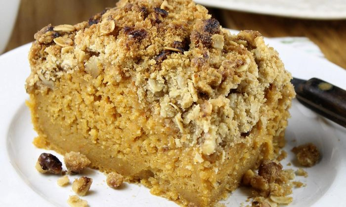 Sweet Potato Bar with Streusel Topping