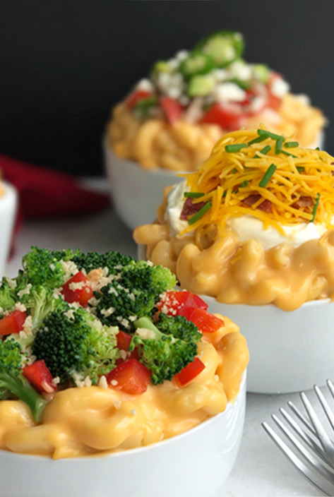 Macaroni and Cheese Toppings Bar