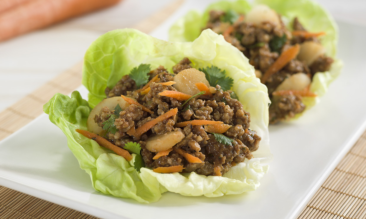 Asian Sausage Lettuce Cups