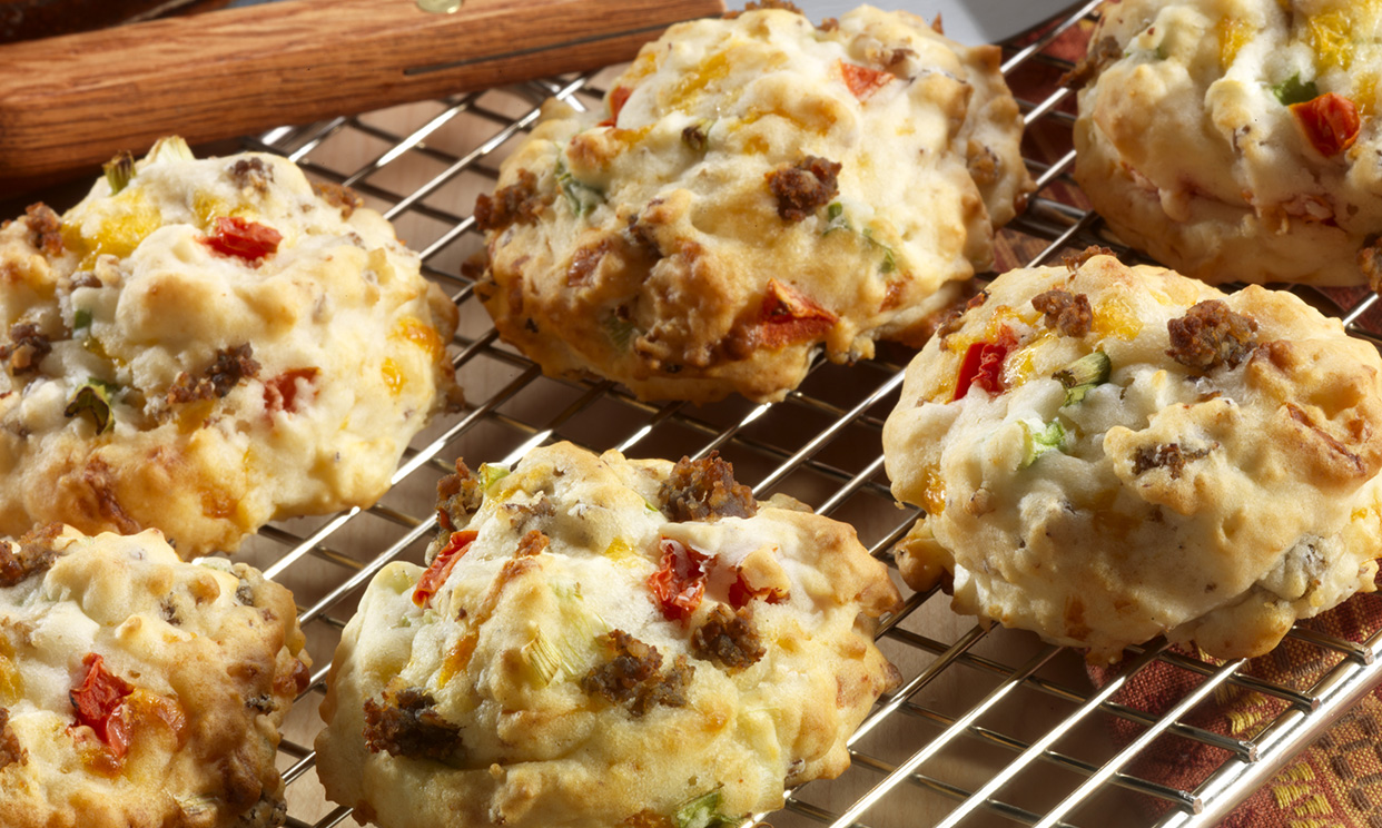 Southwestern Sausage Drop Biscuits